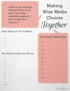 Making Wise Media Choices Together - TriciaGoyer.com