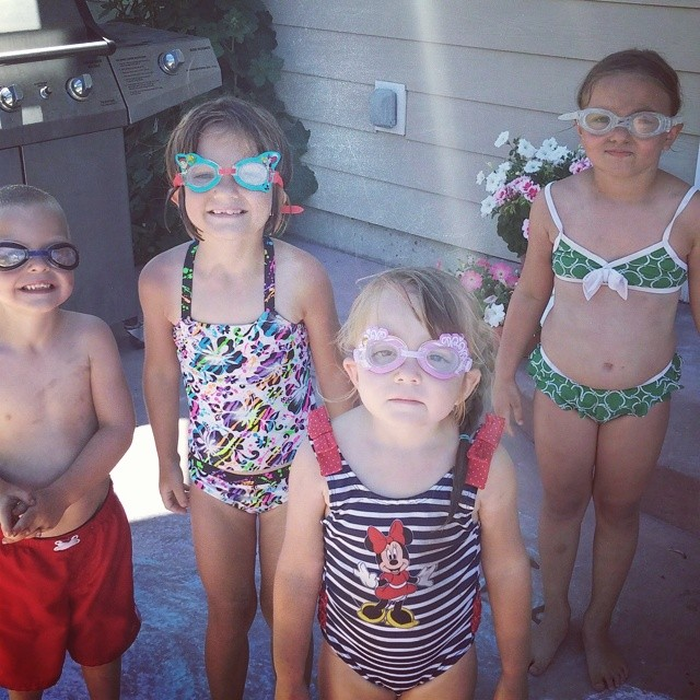 Summer Days Swimming with Goggle Friends!