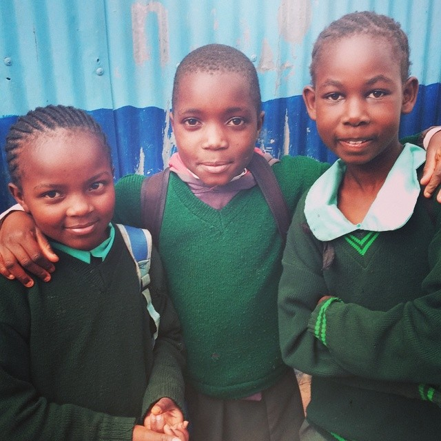 These sweeties went to a different school, but they heard about us and wanted to come meet us - Taken on my trip with Awana.