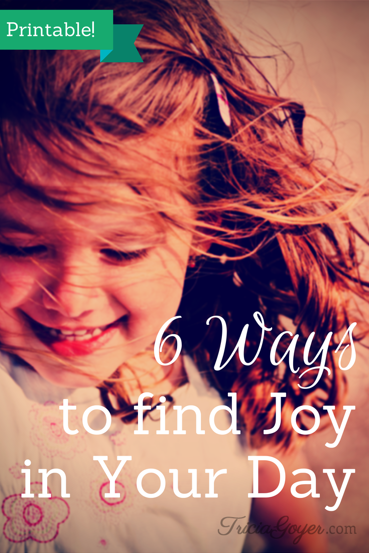 6 Ways to Find Joy in Your Day {Printable!} - TriciaGoyer.com