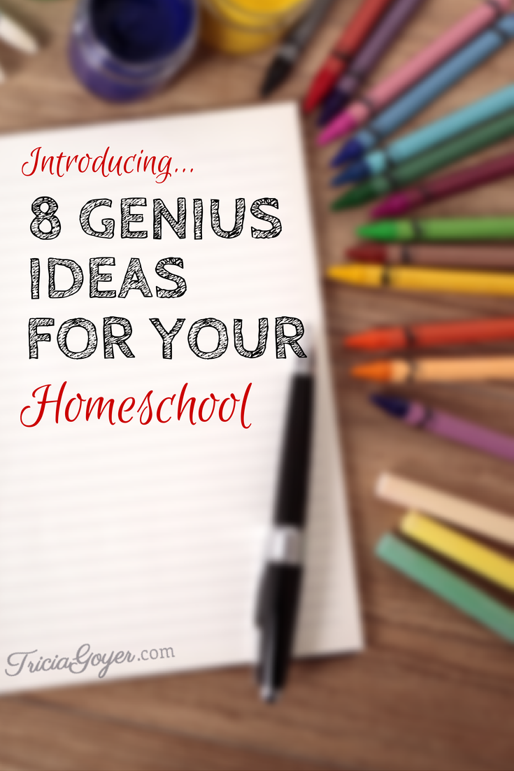 8 Genius Ideas for Your Homeschool - TriciaGoyer.com