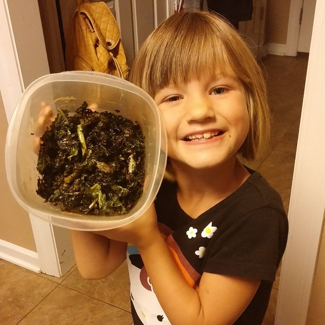 This one has discovered my kale chips & can't get enough of them!