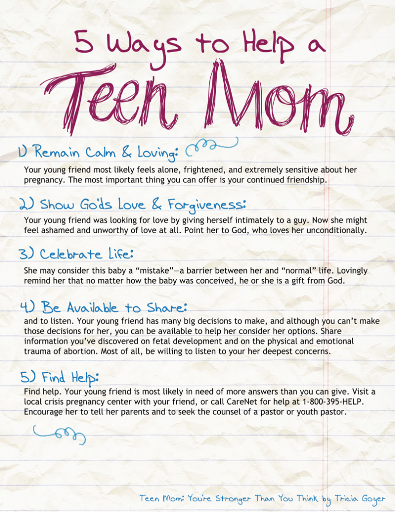 5 ways to help a teen mom copy
