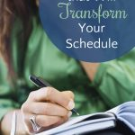 4 Thoughts that Will Transform Your Schedule