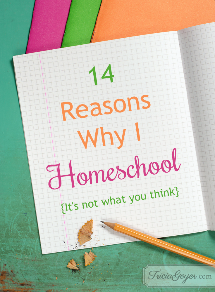 14 GREAT reasons to homeschool! Find out more at TriciaGoyer.com