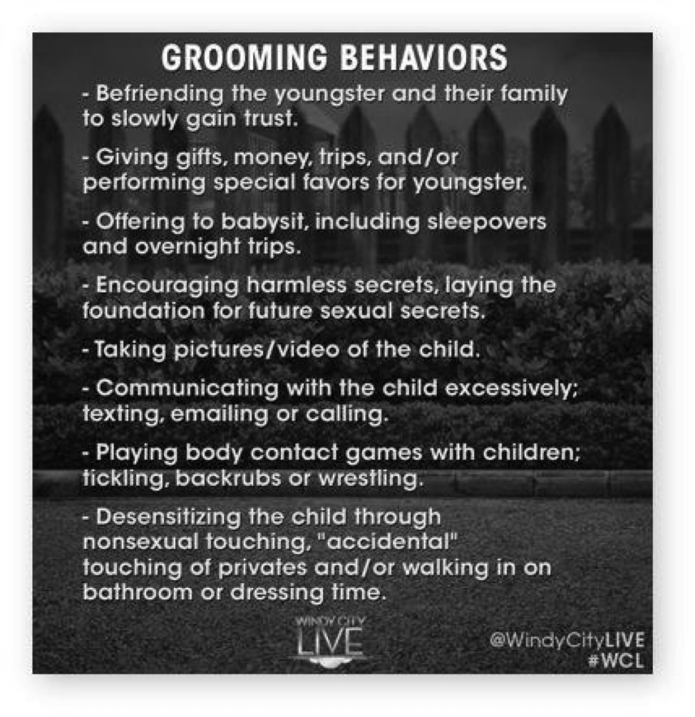 Know the grooming behaviors of predators and keep your kids safe! Learn more from Kimberly Rae at triciagoyer.com