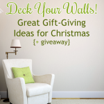 Deck Your Walls! Great Gift-Giving Ideas for Christmas {+ giveaway}