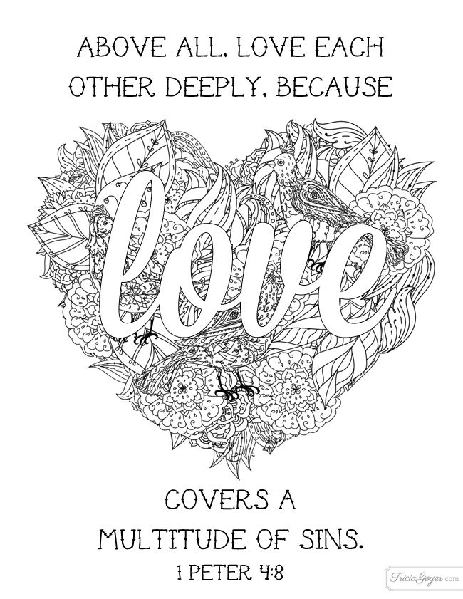 Free Coloring Pages Love One Another : Why coloring isn t just for kids free pages