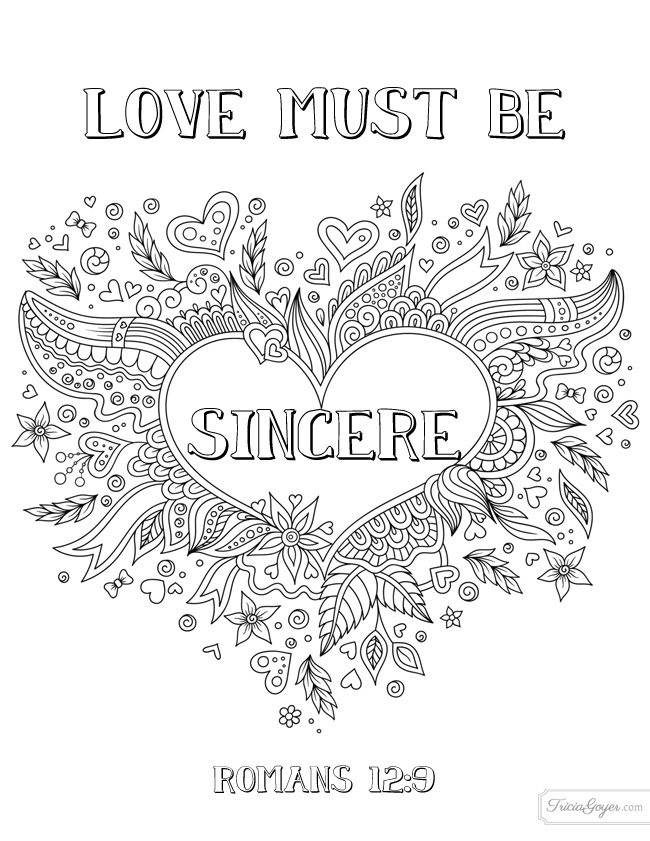 Get Free High Quality HD Wallpapers Coloring Page Love God