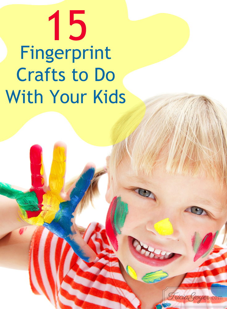 15 fingerprint crafts to do with your kids! triciagoyer.com