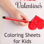 FREE Valentine's Coloring Pages for Kids!