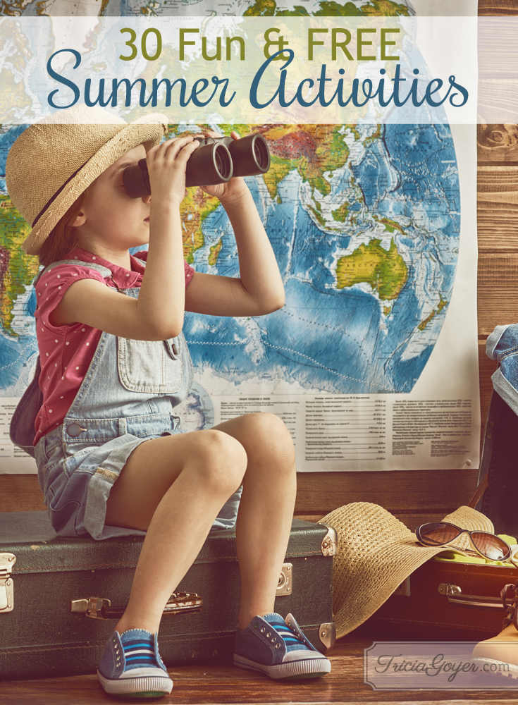 30 fun and FREE summer activies