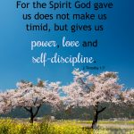 Power, Love, and Self-Discipline | 2 Timothy 1:7