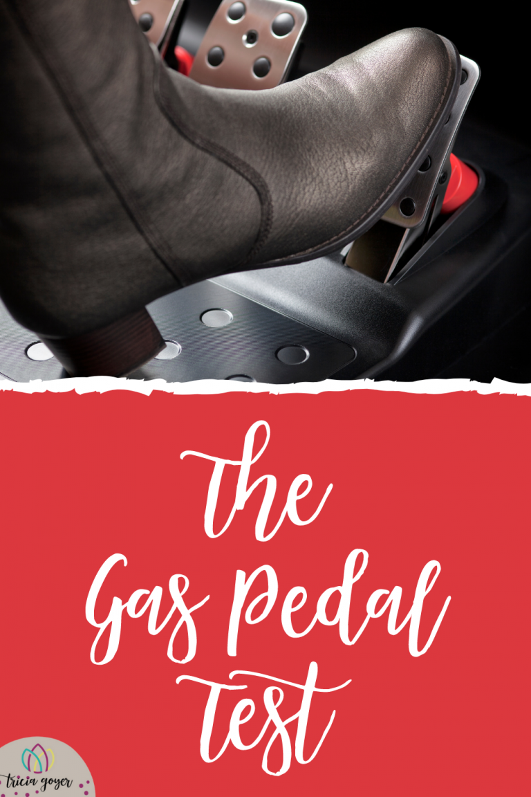 Tricia Goyer shares how the Gas Pedal Test taught her how to seek direction for God's will in my life. How can this analogy help you?