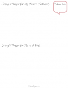 Praying for Your Future Husband Printable Journal - TriciaGoyer.com