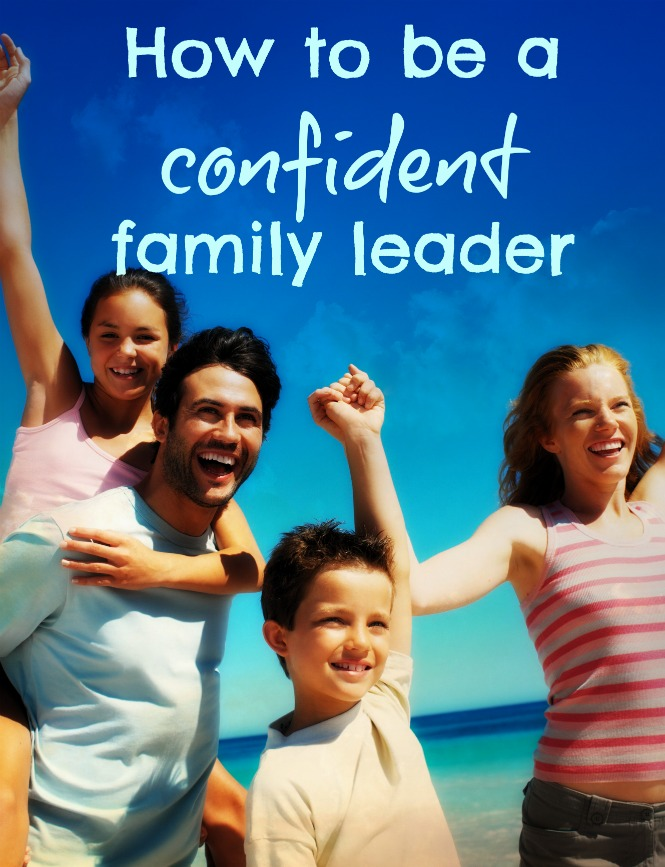 Confident family leader