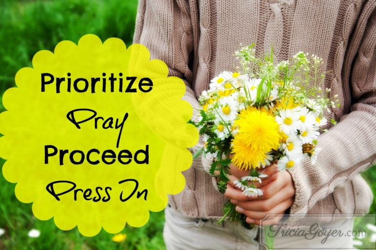 Prioritize, Pray, Proceed, Press In