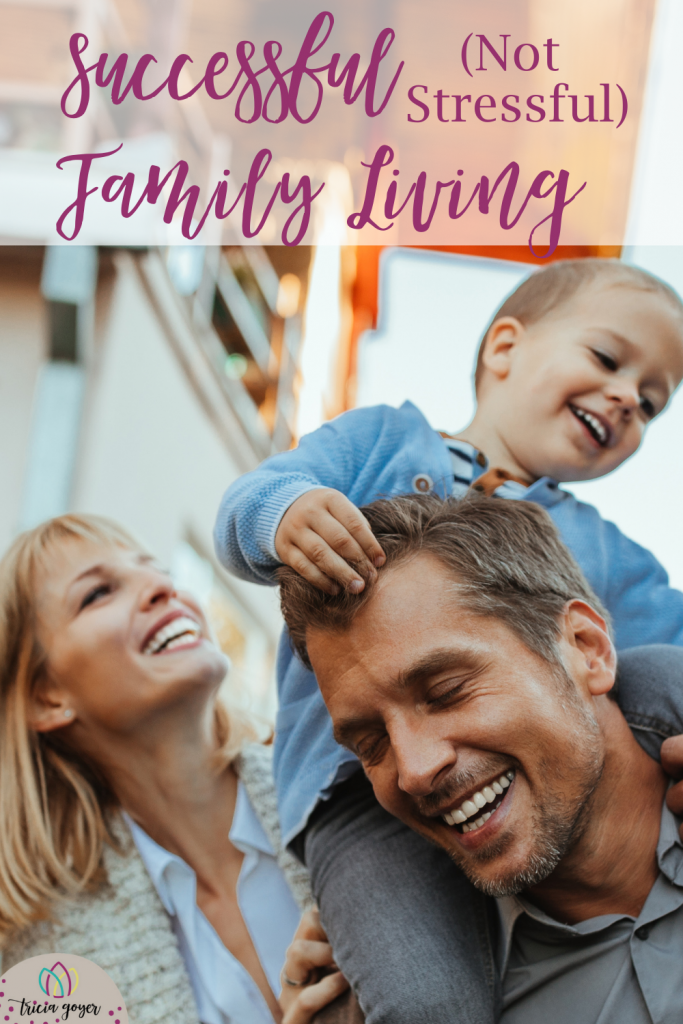Successful (Not Stressful) Family Living is that possible? Fall is in the air. Gone are the sunny, carefree summer days. Replacing them is the activity-packed, responsibility-filled family schedule. And it's often crazy with busy-ness. But yes, we can have successful (not stressful) family living. Read on for more...