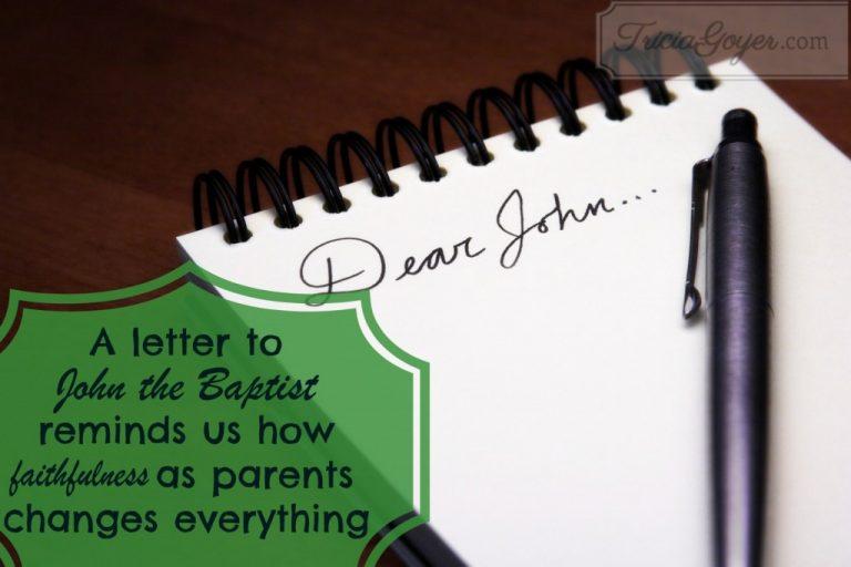 Dear John — A Letter to John the Baptist