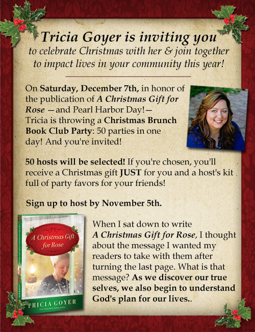 You're Invited to Host a Christmas Brunch Book Club Party!