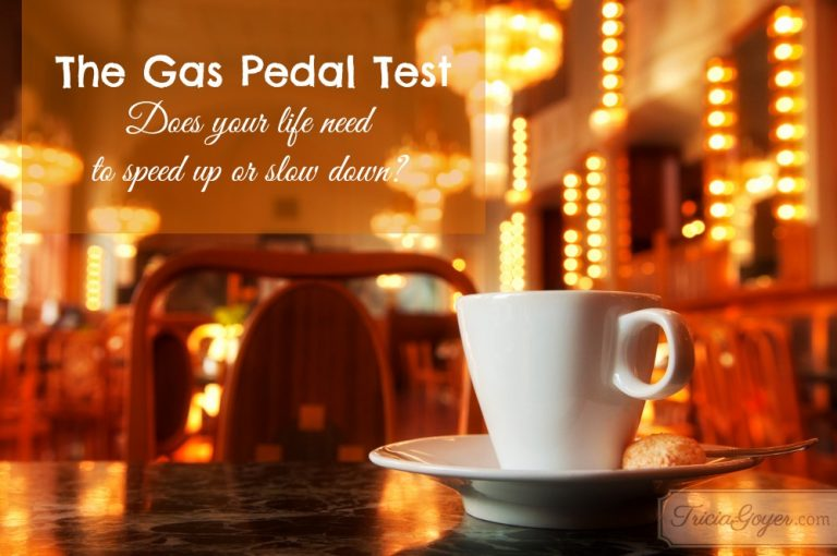 The Gas Pedal Test