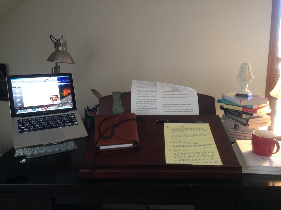 Coffey - Tricia Goyer writing desk photo