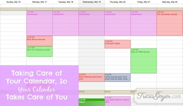 Taking Care of Your Calendar, So Your Calendar Takes Care of You: Balanced Series Day 5