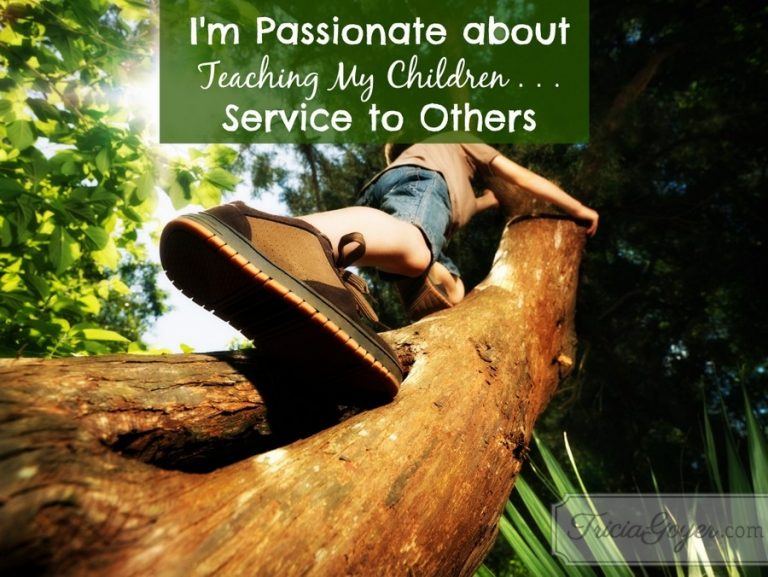 I'm Passionate about Teaching My Children . . . Service to Others