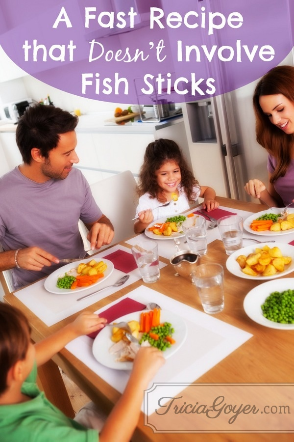 A Fast Recipe that Doesn't Involve Fish Sticks | No More Frumpy Mommy 'Moms' Night Out' Challenge Day 7