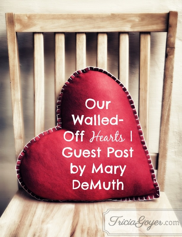 Our Walled-Off Hearts | Guest Post by Mary DeMuth (Plus a Giveaway)