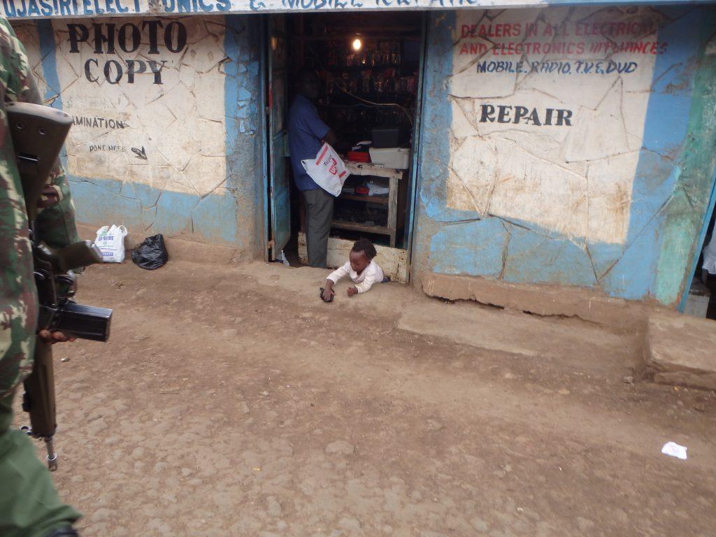Child playing in Kibera