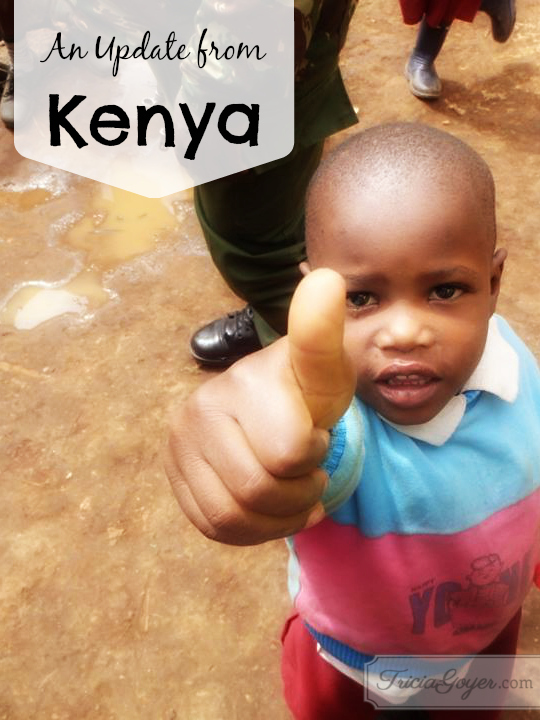 An Update from Kenya