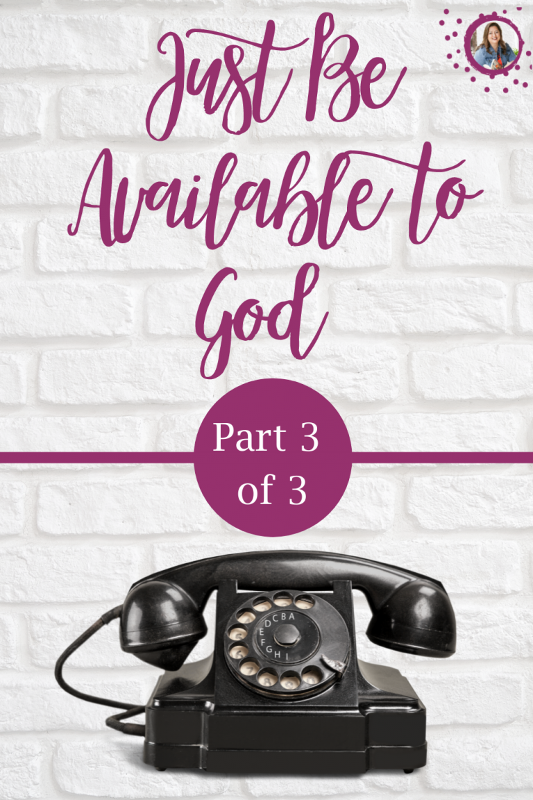 """Tricia Goyer shares help and hope for single moms and young people in her three part series """"Just be available to God."""""""