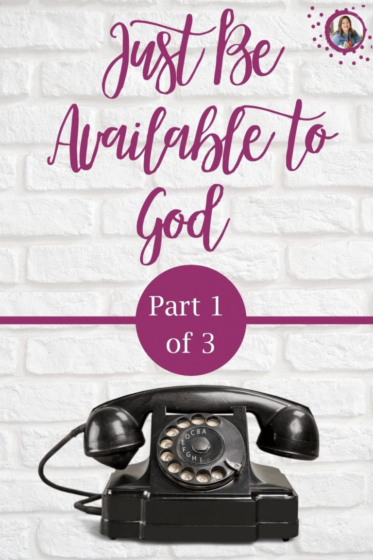 Help and hope for single moms, and struggling young people. Tricia Goyer shares the importance to just be available to God in her three part series.