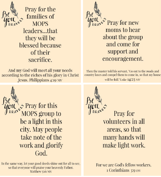 Guided Prayer Cards for MOPS Leaders