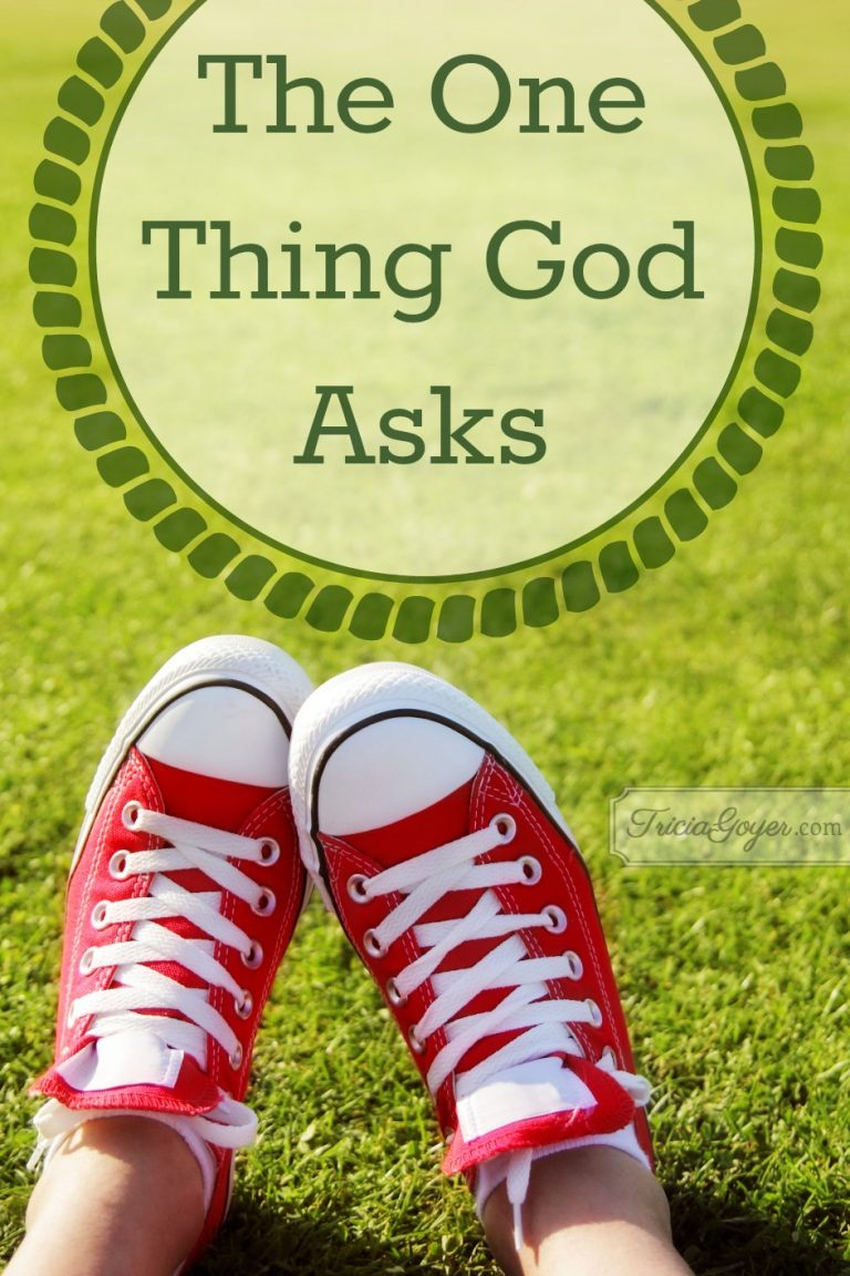 The One Thing God Asks
