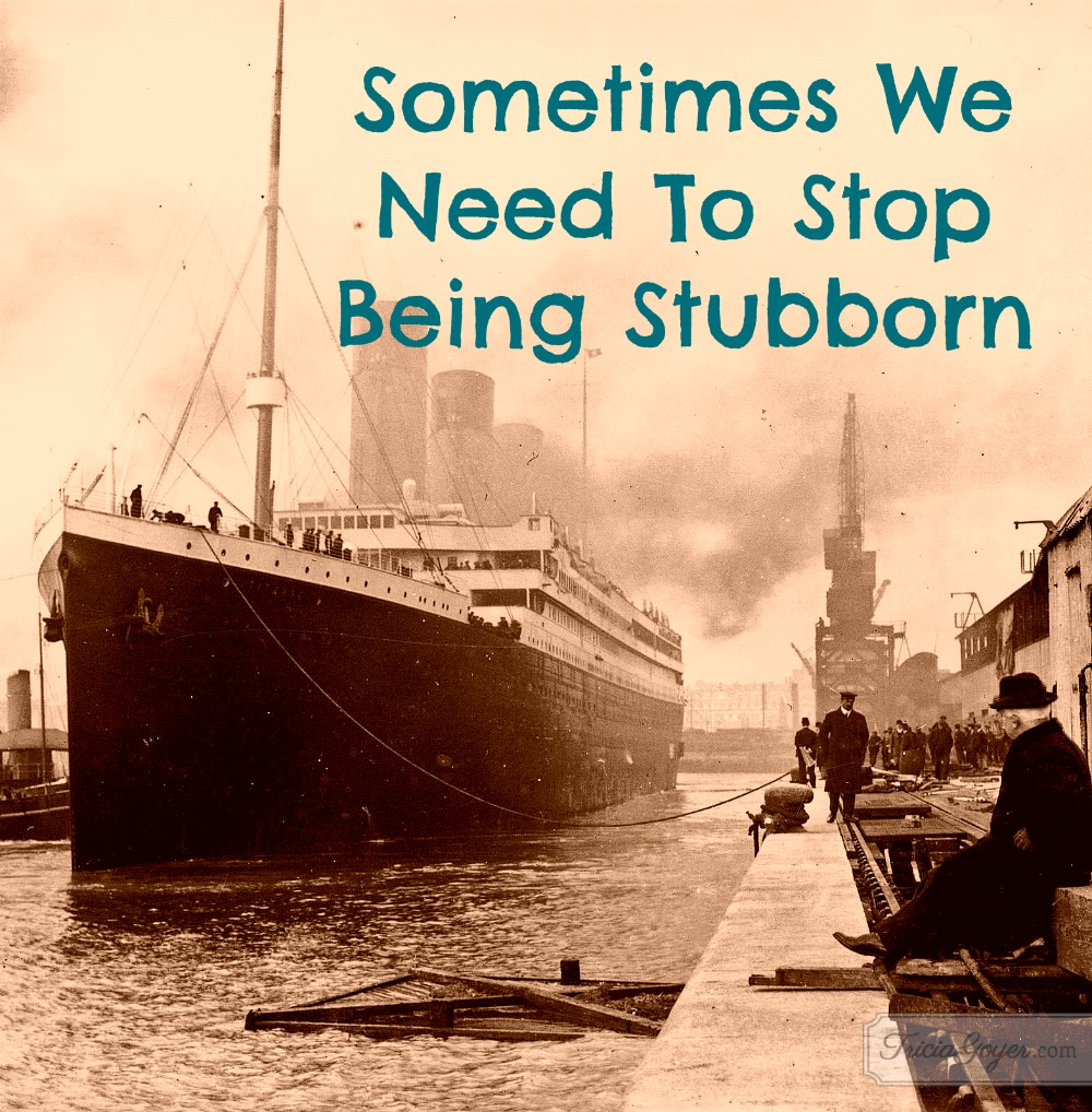 Sometimes We Need To Stop Being Stubborn - TriciaGoyer.com