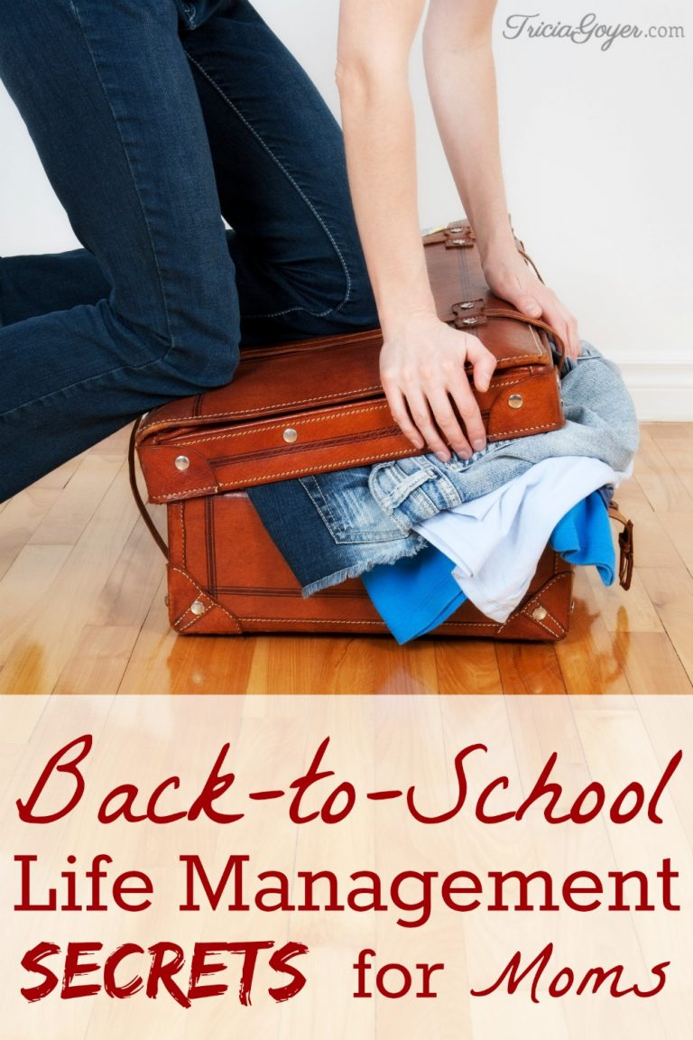 Back-to-School Life Management Secrets for Moms