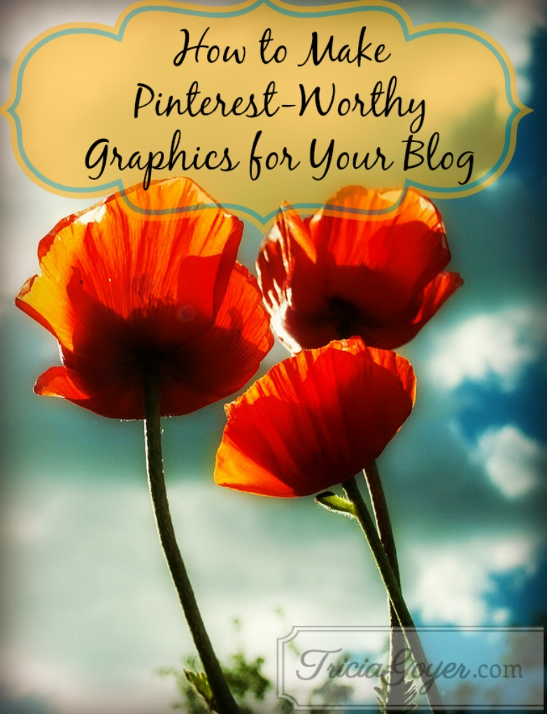 How to make graphics for blogs that look great on Pinterest ... for FREE!