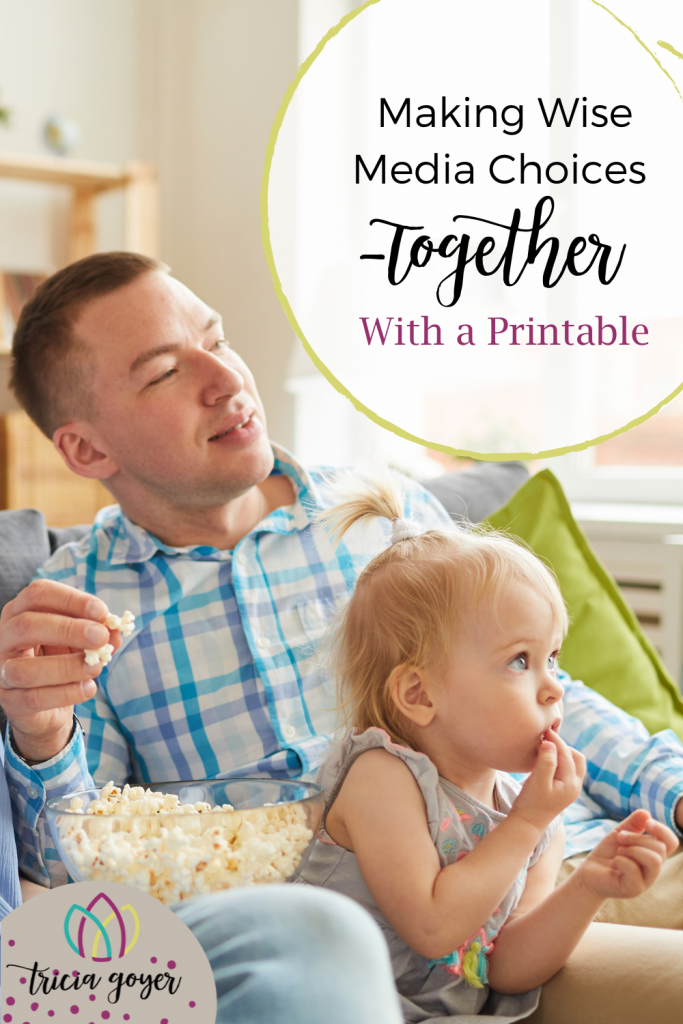 Tricia Goyer shares how you can include your children and work together on making wise media choice-a free printable is included.
