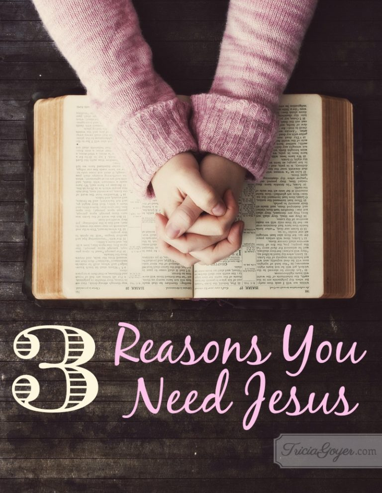 3 Reasons You Need Jesus