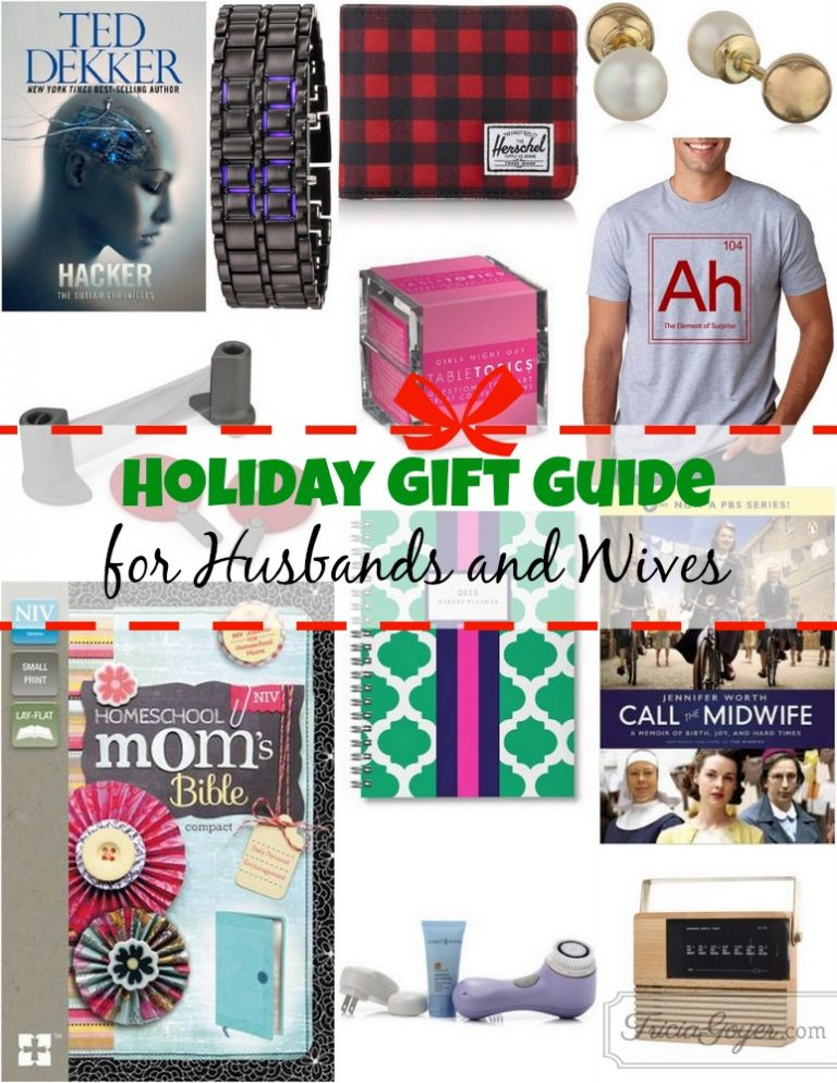 Holiday Gift Guide for Husbands and Wives