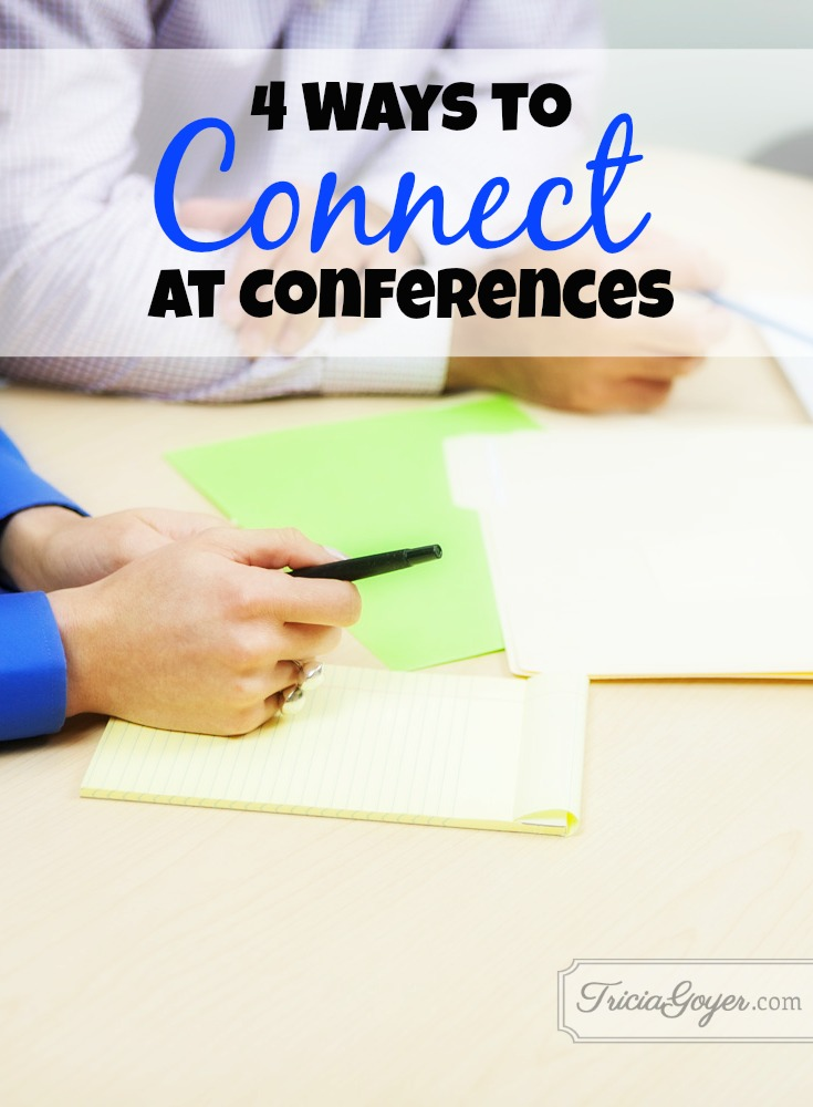 connect at conferences