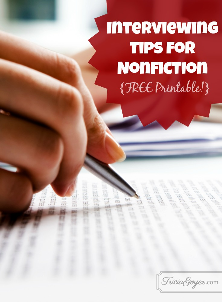 Interviewing Tips for Nonfiction {Plus FREE Printable!}