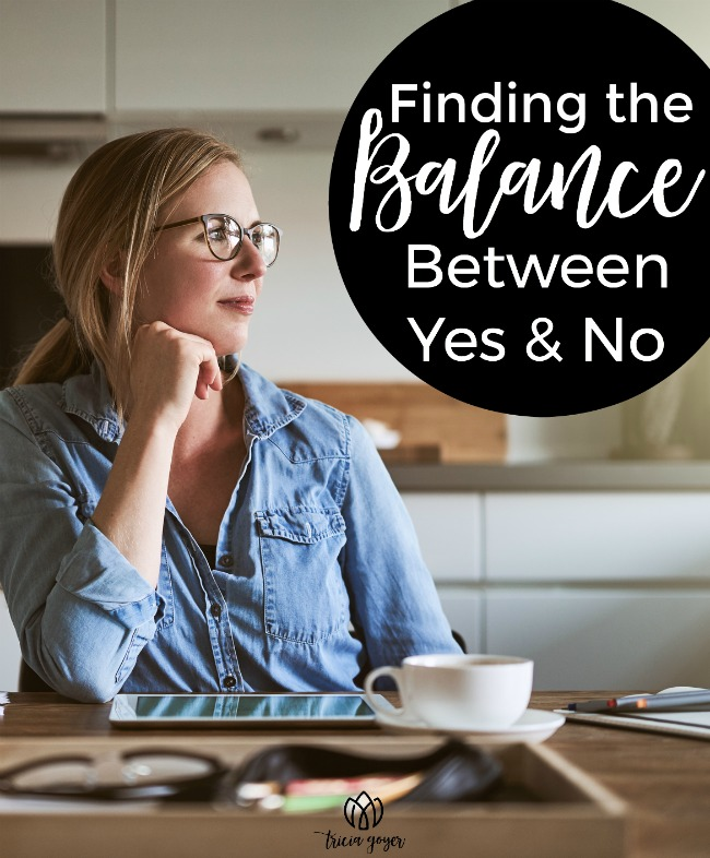 finding the balance between yes and no