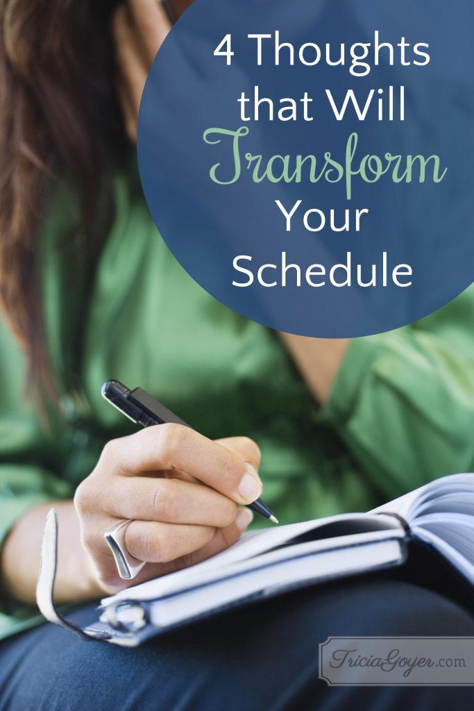 transform schedule