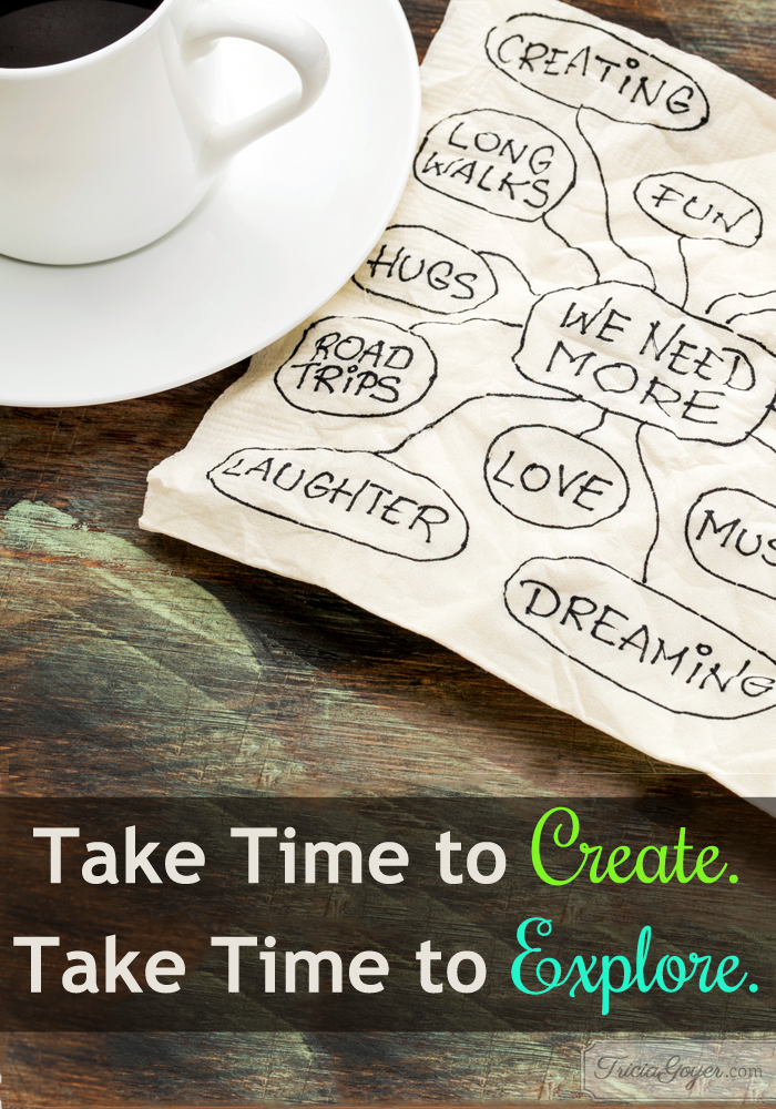 Take Time to Create. Take Time to Explore.