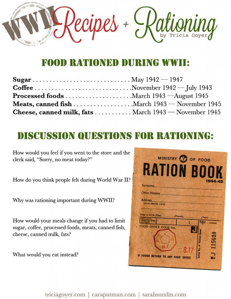 photograph about Ration Book Ww2 Printable referred to as Foodstuff Rationing Recipes inside Globe War II