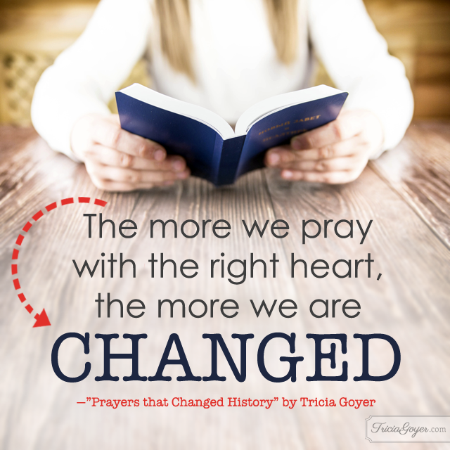 "Prayers DO make a difference! Learn more in Tricia Goyer's ""Prayers that Changed History"""