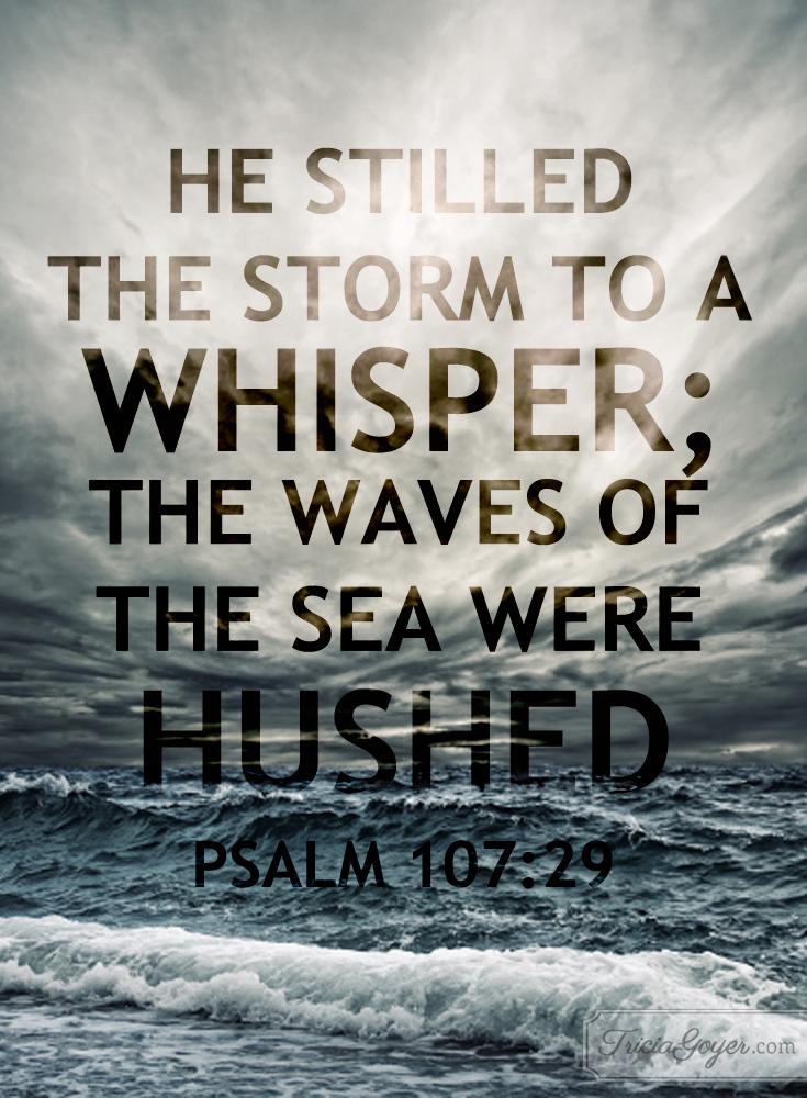 Stilling the Storm | Psalm 107:29